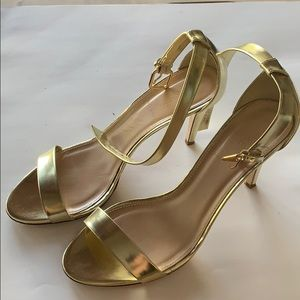 J crew gold high heel sandals size 9.5